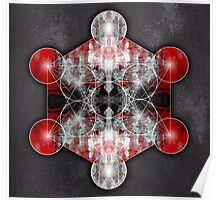 Metatron's Cube red Poster