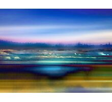 Blue and Gold Landscape Photographic Print