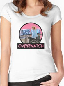 Felicity Smoak - Codename- Comic Book Text - Pink Women's Fitted Scoop T-Shirt
