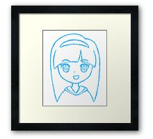 Cute Anime Girl - Smile Framed Print