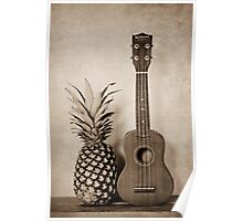 Pineapple and Ukulele  Poster