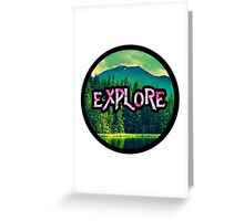 Explore Adventurer Circle Stylish Cool Nature Greeting Card