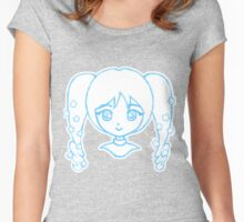 Cute Anime Girl - Pigtails Women's Fitted Scoop T-Shirt