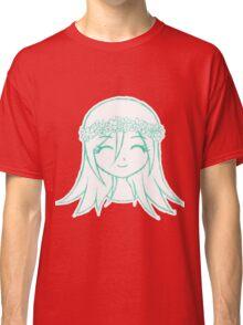 Cute Anime Girl - Flower Crown Classic T-Shirt