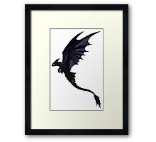 The Wild Night Fury Framed Print