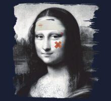 Restored Mona Lisa   One Piece - Long Sleeve