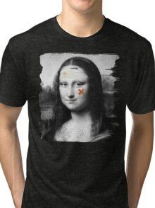 Restored Mona Lisa   Tri-blend T-Shirt