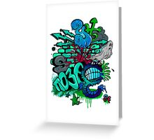 graffity Greeting Card