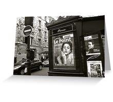 Paris - Kiosque Greeting Card