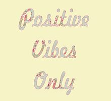 Pastel Floral Typography Inspirational Motivational Quote Positive Vibes by lfang77