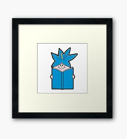 Reading Rainbow in Harmony - Blue Framed Print
