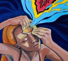 Prying Open My Third Eye Acrylic Painting Sticker