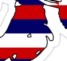 Hawaii flag dirt bike Sticker