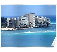 Honolulu Skyline Magic Poster