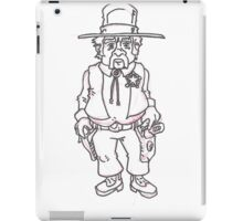 Sheriff B&W iPad Case/Skin