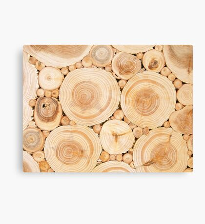Wooden surface with annual rings Canvas Print