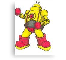 Robot Boxer Canvas Print
