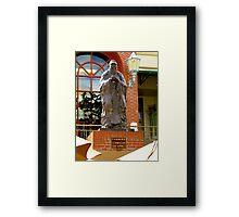 Confuscius in Chinatown Honolulu Framed Print