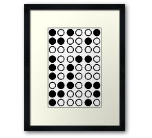 Braille Satan (Black) Framed Print