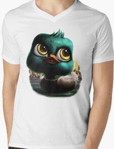 Baby Duck Mens V-Neck T-Shirt