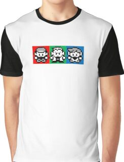 Pokemon Beginnings - Ash, Oak, Gary Red Blue Yellow Graphic T-Shirt