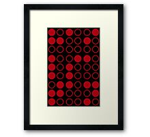 Braille Satan (Red) Framed Print