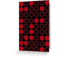 Braille Satan (Red) Greeting Card