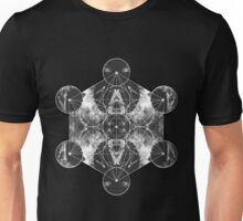 Metatron's Cube silver Unisex T-Shirt