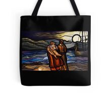"""""""Vikings"""" Art - Stained Glass Style Tote Bag"""