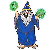 Dirty Wizard Photographic Print