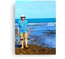 Low Tide Walk Oahu This Way Canvas Print