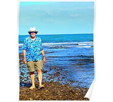 Low Tide Walk Oahu This Way Poster