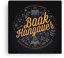 Book Hangover Canvas Print