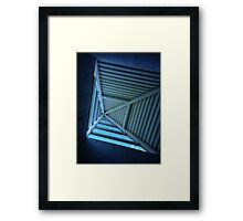 Blue Sky and Pyramid Architectural Window Framed Print
