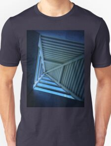 Blue Sky and Pyramid Architectural Window Unisex T-Shirt