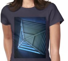 Blue Sky and Pyramid Architectural Window Womens Fitted T-Shirt