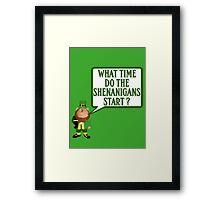 Funny Irish shenanigans Framed Print