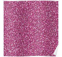 Fuchsia Glitter Sparkles Texture Photography Poster