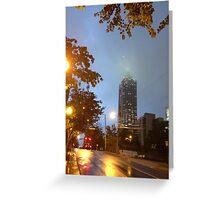 Foggy City Night Greeting Card