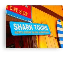 Shark Tours! Oahu's North Shore Canvas Print