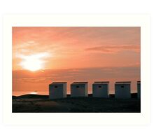 Pink Sunset over the North Sea photo Art Print