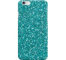 Turquoise Glitter Sparkles Texture Photography iPhone Case/Skin