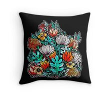 Spider Mum Garden Throw Pillow
