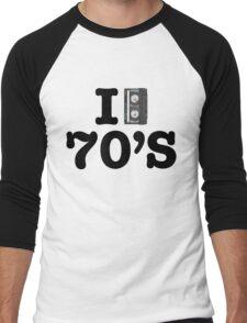 I LOVE THE 70's Men's Baseball ¾ T-Shirt