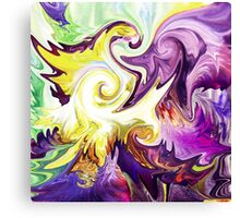 Magic Purple Flower Abstract Canvas Print