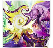 Magic Purple Flower Abstract Poster