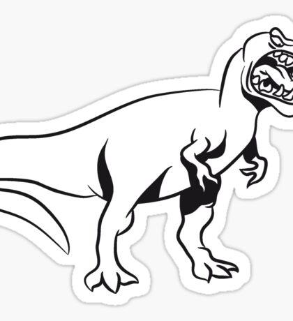Dinosaur T-Rex Tyrannosaurus Rex aggressive Sticker
