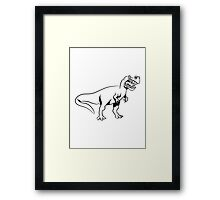 Dinosaur T-Rex Tyrannosaurus Rex aggressive Framed Print