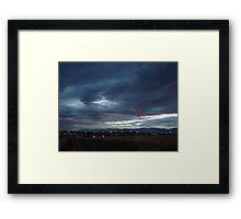 Twilight Cityscape Framed Print