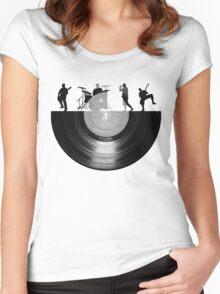 Vinyl music art Women's Fitted Scoop T-Shirt